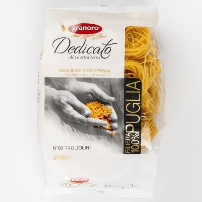 Макаронные изделия из твердых сортов пшеницы GranOro Dedicato № 83 Тальолини
