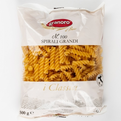 Макаронные изделия из твердых сортов пшеницы GranOro I classici №100 Спирали Гранди