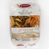 Макаронные изделия из твердых сортов пшеницы GranOro Tricolori №231 Пенне Ригате Триколори