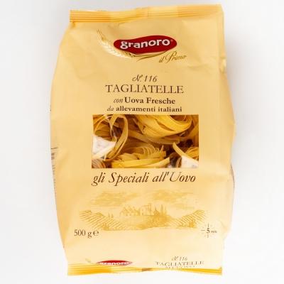 Макаронные изделия из твердых сортов пшеницы с добавлением яйца GranOro Gli Speciali All'uovo Nidi №116 Тальятелле