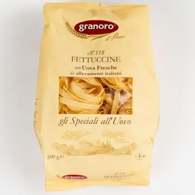 Макаронные изделия из твердых сортов пшеницы с добавлением яйца GranOro Gli Speciali All'uovo Nidi №118 Феттуччине