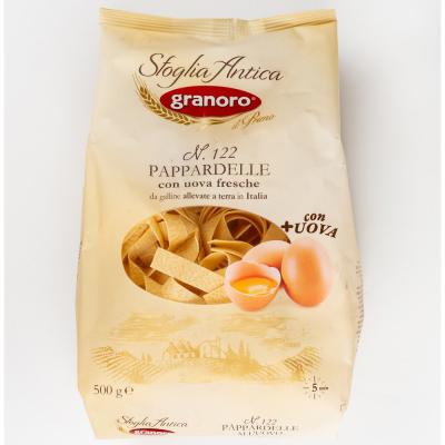 Макаронные изделия из твердых сортов пшеницы с добавлением яйца GranOro Sfoglia Antica Nidi All'Uovo №122 Паппарделле