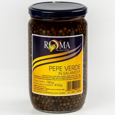 Перец зелёный горошек Roma Fine Foods в рассоле