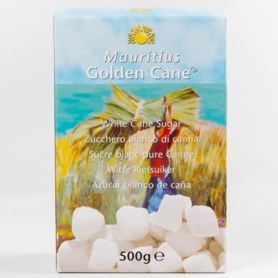 Сахар тростниковый Golden Cane белый кусковой рафинированный неформованный