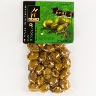 Оливки зеленые с косточкой Astir