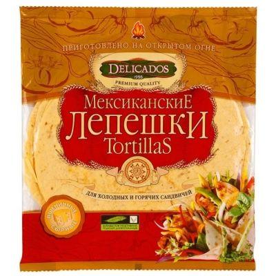 Тортилья Delicados с сыром 10 дюймов 12 шт в упак.