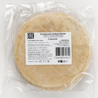 Лепешка El Cartel кукурузная 5 дюймов замороженная 20 шт