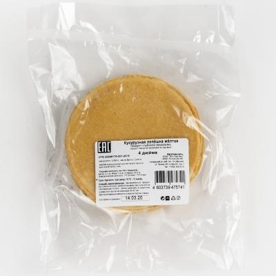 Лепешка El Cartel кукурузная желтая 4 дюймов замороженная 20 шт
