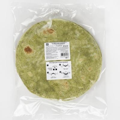 Лепешка El Cartel пшеничная со шпинатом 10 дюймов замороженная 10 шт