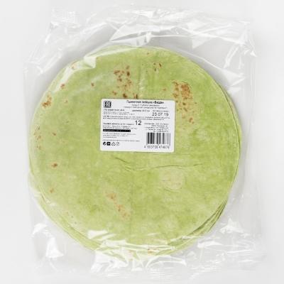 Лепешка зелёная пшеничная El Cartel Верде 8,6 дюймов 22 см замороженная