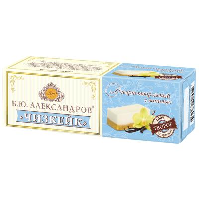 Десерт творожный Б.Ю. Александров Чизкейк с ванилью 15%