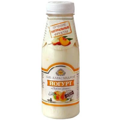 Йогурт питьевой Б.Ю.Александров Персик-груша
