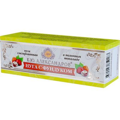 Нуга Б.Ю.Александров с фундуком в молочном шоколаде