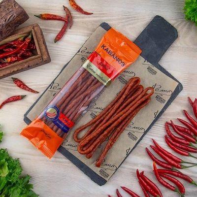 Колбаски Ремит KABANOS Chili сырокопченные газ