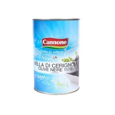 Оливки чёрные гигантские целые Cannone ж/б