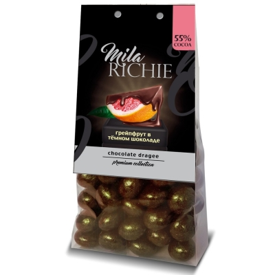 Драже 'Миларичи' Грейпфрут в темном шоколаде