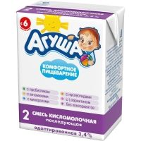 Смесь детская кисломолочная Агуша 2 3.4% TBA
