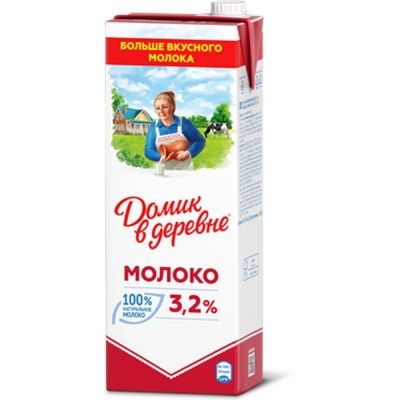 Молоко ультрапастеризованное Домик в Деревне 3.2%
