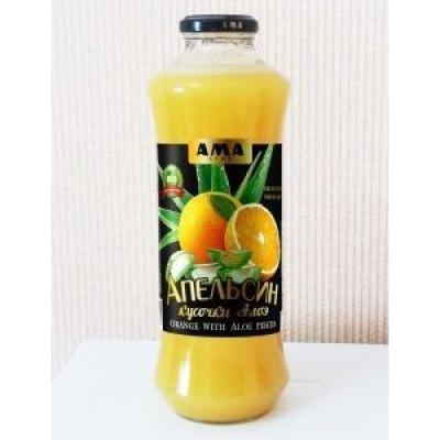 Нектар апельсиновый АМА с кусочками алоэ