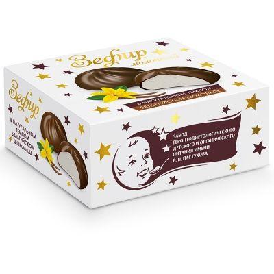 Зефир молочный ЗГДиОП им.В.П.Пастухова в темном бельгийском шоколаде