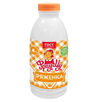 Ряженка 'Фрау Му' 4% пэт бутылка