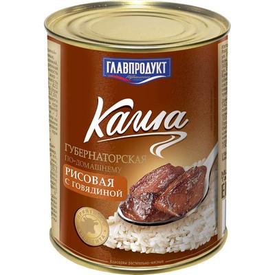 Каша Главпродукт Губернаторская рисовая с говядиной