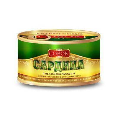 Сардина СОВОК с овощным гарниром