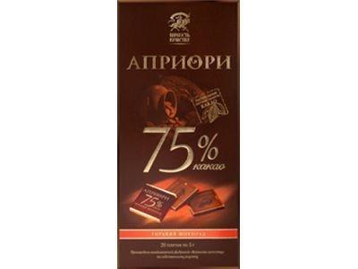 Горький шоколад 'АПРИОРИ' 75% какао