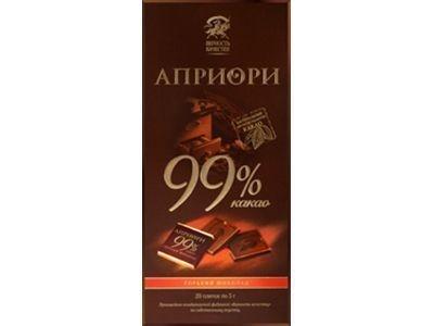 Горький шоколад 'АПРИОРИ' 99% какао