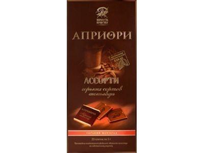 Горький шоколад 'АПРИОРИ' Ассорти