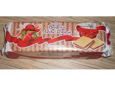 Вафли 'Леди джем' со вкусом клубники