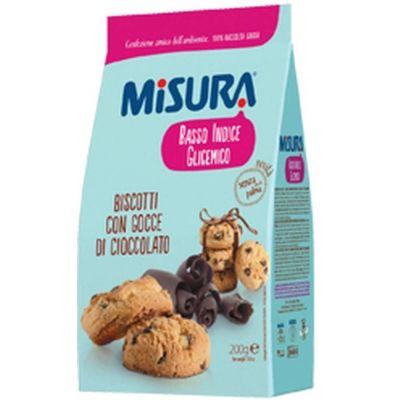 Печенье 'Misura' с кусочками шоколада с низким гликемическим индексом Basso indice glicemico
