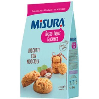 Печенье 'Misura' с лесным орехом-низкий гликемический индекс Basso indice glicemico
