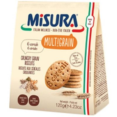 Печенье 'Misura' мультизлаковое 6 злаков Multigrain