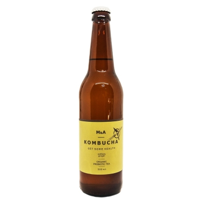 Напиток M&A Комбуча Имбирный стекло