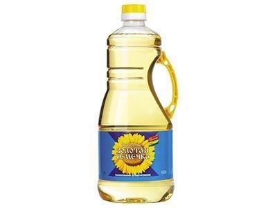 Масло 'Золотая Семечка' подсолнечное рафинированное дезодорированное
