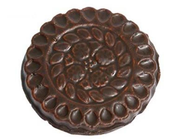 Печенье со сливочным ароматом глазированное кондитерской глазурью