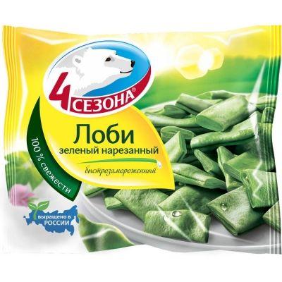 Лоби зелёный нарезанный 4 Сезона замороженный