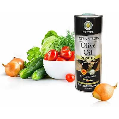 Масло оливковое СRETEL ORGANIC Extra Virgin,  кислотность 0,3-0,6, ж/б
