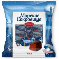 Конфеты Азовская кондитерская фабрика Морские сокровища помадные глазированные