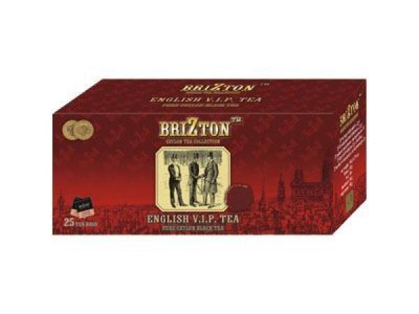 Черный чай brizton английский vip (25 пакетов по 2 г) в москве и московской области
