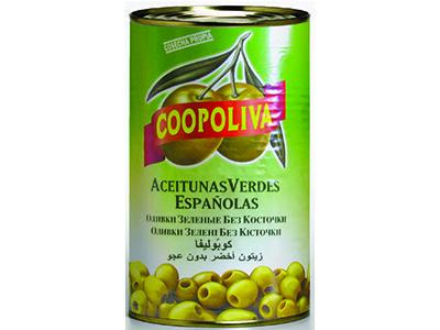 Оливки 'Coopoliva' без косточки, 280/320