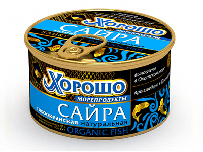 Консервы 'Хорошо морепродукты' Сайра тихоокеанская натуральная (ключ)