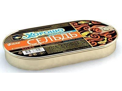 Консервы 'Хорошо морепродукты' Филе сельди в томатном соусе (ключ)