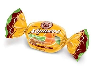 Конфеты Микаелло Абрикос с грецким орехом в шоколадной глазури