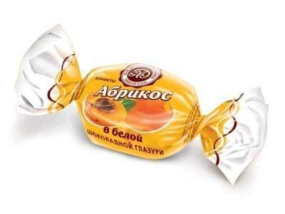 Конфеты Микаелло Абрикос в белой шоколадной глазури