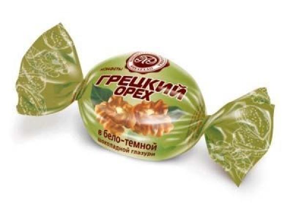 Конфеты Микаелло Грецкий орех в бело-темной шоколадной глазури
