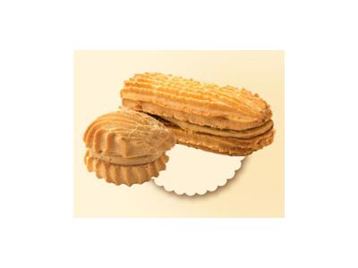 Печенье 'Полоска песочная' со сгущеночным кремом