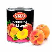 Персики SKO половинки в сиропе, ж/б