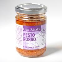 Крем-Паста Casa Rinaldi песто Rosso в подсолнечном масле / из вяленых помидоров Черри